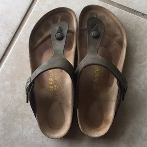 Birkenstock Gizeh Brown Metallic 40